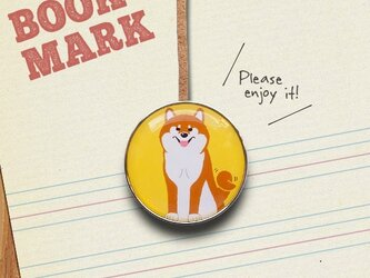 「ご主人の帰りがとてもうれしい柴犬のクリップ型ブックマーク」no.221の画像