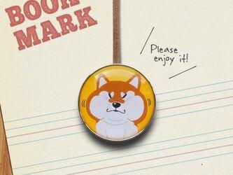 「抜け出せなくなってしまった柴犬のクリップ型ブックマーク」no.222の画像