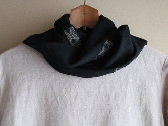 着物リメイク・正絹黒紬ストール(1)の画像
