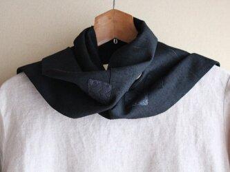 着物リメイク・正絹黒紬ストール(2)の画像