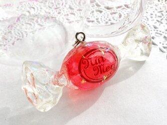 【受注生産】キャンディのペンダントトップ・真っ赤ないちご(トップのみ・ネックレス・キーホルダー・ストラップが選べます)の画像
