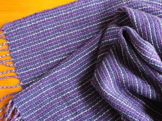 手織のストール 菫(すみれ)の画像