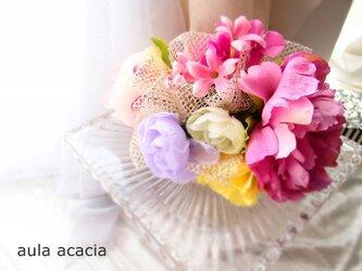 新春 春色ヘッドドレス ヘアクリップ(バンスクリップ)の画像