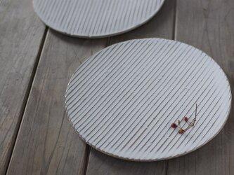 白い陶板のお皿(大)の画像