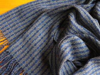手織のストール 鉄紺(てつこん)の画像