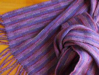 手織のストール 藤納戸(ふじなんど)の画像