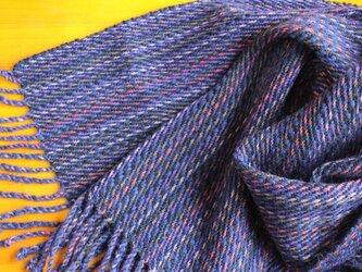 手織のストール 茄子紺(なすこん)の画像