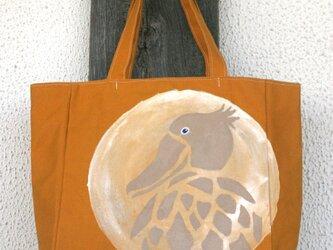 トートバッグ 月とハシビロコウの画像