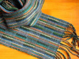 手織のマフラー 松葉(まつば)の画像