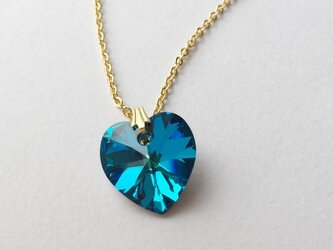 blue heart necklaceの画像