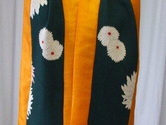 アンティーク着物から鮮やかストール 絹の画像
