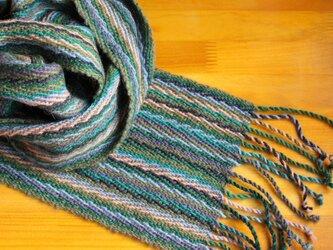 手織のマフラー 柳(やなぎ)の画像
