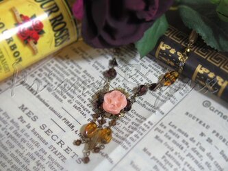 "Necklace ""Cecilia #2:Rose en Liqueur""の画像"