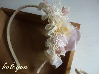 バラのカチューシャ*pink*の画像