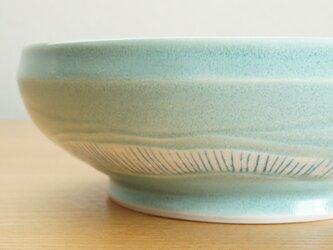 水色しましま中鉢の画像