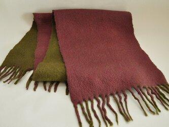 羊毛フェルトのマフラーの画像