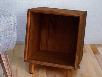 ちょび足のウッドボックス【B5サイズ】【ダーク】の画像