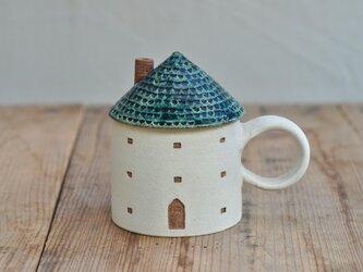 家のカップ(緑)の画像