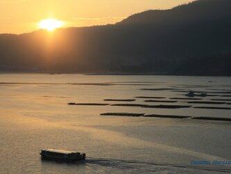 瀬戸内の日の出の画像