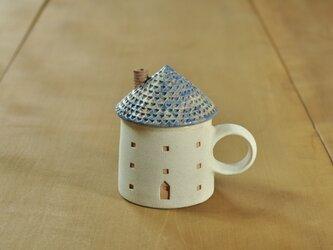 家のカップ(青)の画像