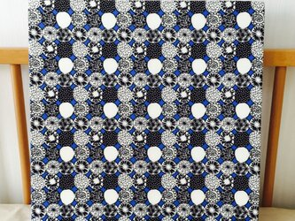 北欧マチルダ柄のファブリックパネル*青*の画像