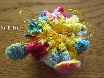 花たくさんの巾着ポーチ AME-CHAN「ニジイロ」の画像