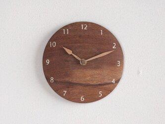 掛け時計 丸 レッドラワン材②の画像