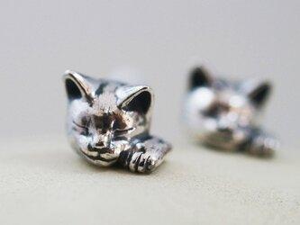 招き猫ピアス(エリザベス) 片耳の画像