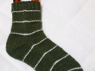 手編みルームソックスの画像