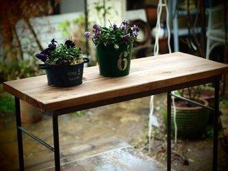miyumiyu様枠「アイアン製の作業テーブル(1枚板)」の画像