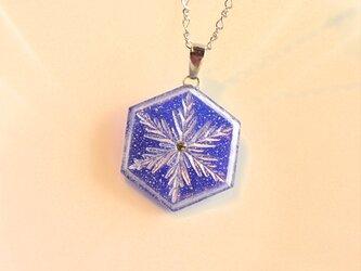 雪の結晶ネックレス②(ロイヤルブルー)の画像