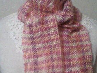 春色♪ミニ手織りストールの画像
