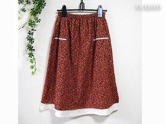 丈75 L ポケット付き二重スカート 起毛&ガーゼの画像