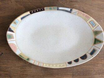 幾何学文様楕円皿(No.228)の画像