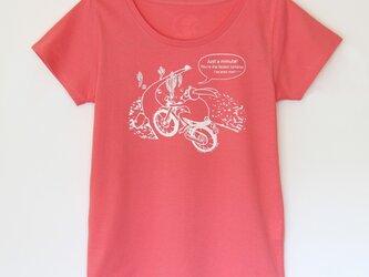 ウサギくんのTシャツ lady's ピンク×ホワイトの画像