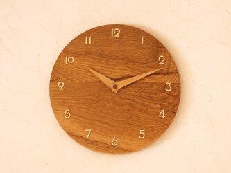 掛け時計 丸 ナラ材⑥の画像