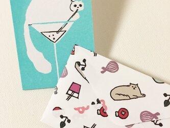 封筒付きカード ソーダ水 2セットの画像
