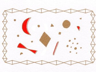 ポストカード 赤いmoon(惑星) 2枚の画像