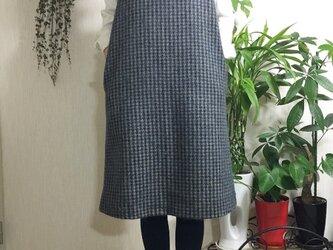 イタリー製 モヘアウール地 ジャンパースカートの画像