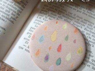 小さな布のハンドミラー【イロドリシズク】の画像