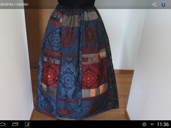 エレガントギヤザースカート…裏付き…  一点品の画像