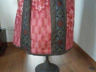 かわいい大島紬のスカート… 裏地付き…  ● … …今回限りの二割引 7200ー一点品の画像