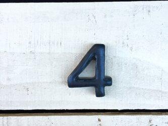 数字 黒 4の画像