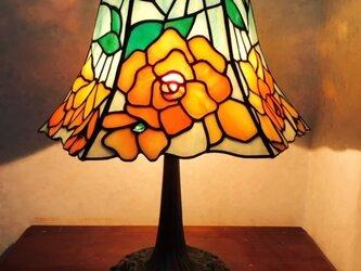 ステンドグラスランプ ベゴニア の画像