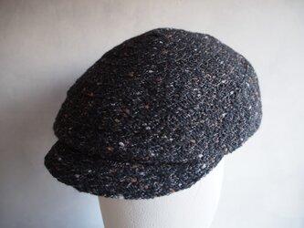 毛糸ブレードハンチング(黒)の画像