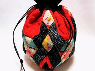 着物古布のきんちゃく袋の画像