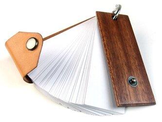 木で作った単語帳カバーの画像