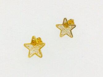 星型ピアス*goldの画像
