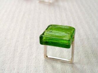 ■ガラスの□リング〔緑〕の画像