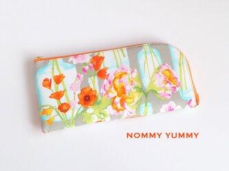 L字ファスナー長財布  ボトルに挿した花 *081*の画像